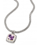 Collier - 925 Zilver WH. RHODIUM / 14K Yellow Gold - White Sapphire