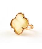 FIORI Ring zilver rose verguld - Kleur: Moccasin  - Maat: Verstelbaar