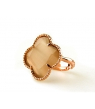 FIORI Ring zilver rose verguld - Kleur: Brown