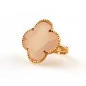 FIORI Ring zilver rose verguld - Kleur: Pink  - Maat: Verstelbaar
