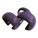 Armband in Roggenleder - Kleur: Lavender