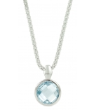 "Ketting - 925 Zilver W/CHN 18""WH. RHODIUM PLATE - Stone: SKY BLUE TOPAZ"