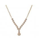 Rose Necklace 44 cm Zirc