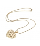 Collier - 925 Zilver Rose Gold Plated + Matte afwerking