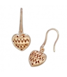 Silver Earrings Rose Gold Plating + Matt