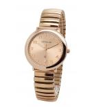 Dames/Heren horloge Analoog RV rose verguld rekband